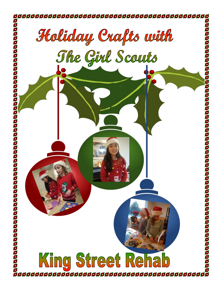Holiday Crafts with the Girl Scouts