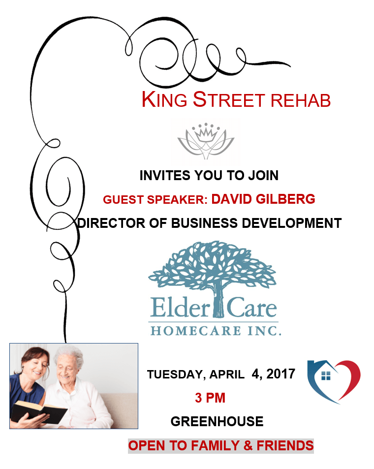 Elder Care Seminar Hosted by David Gilberg, Director of Business Development