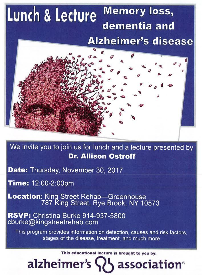 Lunch & Lecture - Alzheimer's
